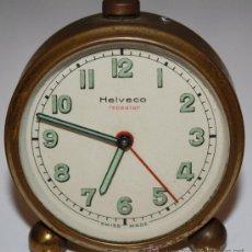 Despertadores antiguos: RELOJ HELVECO. Lote 27475174