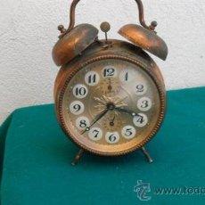 Despertadores antiguos: RELOJ DESPERTADOR DE CAMPANA. Lote 28460720