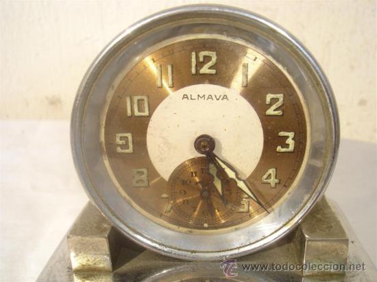 Despertadores antiguos: reloj despertador de cuerda y musica Almava - Foto 2 - 30216094