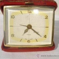 Despertadores antiguos: RELOJ DESPERTADOR DE VIAJE PETER. Lote 30229236