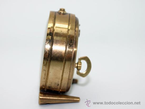 Despertadores antiguos: Reloj despertador ¨CYMA AMIC¨.Metal dorado. - Foto 2 - 30684436