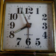 Despertadores antiguos: RELOJ DESPERTADOR JAZ, ANTIGUO. Lote 31012151