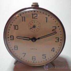 Despertadores antiguos: REOJ DESPERTADOR META. Lote 31099770