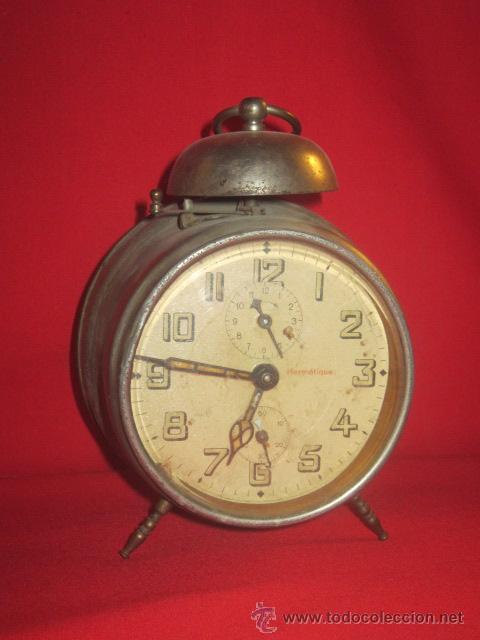 RELOJ DESPERTADOR AÑOS 40 EN FUNCIONAMIENTO. (Relojes - Relojes Despertadores)