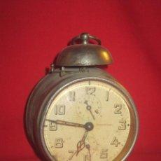 Despertadores antiguos: RELOJ DESPERTADOR AÑOS 40 EN FUNCIONAMIENTO.. Lote 32211370