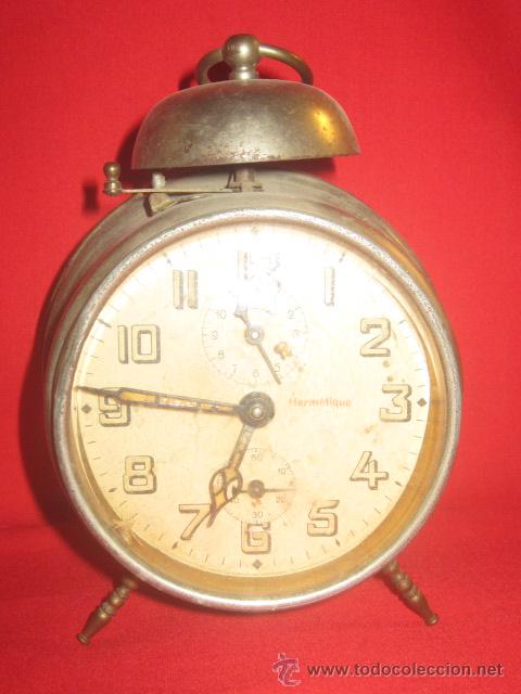 Despertadores antiguos: Reloj despertador años 40 en funcionamiento. - Foto 2 - 32211370