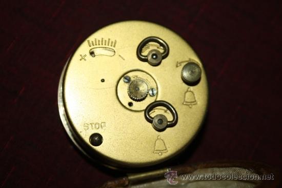 Despertadores antiguos: PRECIOSO RELOJ DESPERTADOR 'EMES' MADE IN GERMANY - CON BONITA FUNDA - M. S.XX - Foto 4 - 32555486
