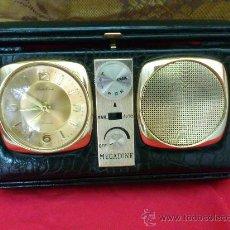 Despertadores antiguos: RELOJ DESPERTADOR CON RADIO MEGATONE. MADE IN HONG KONG.. Lote 32634245