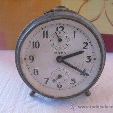 Despertadores antiguos: ANTIGUO RELOJ DESPERTADOR META. FUNCIONANDO.. Lote 33123562
