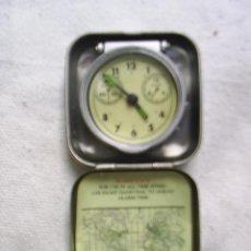 Despertadores antiguos: RELOJ DESPERTADOR EN ESTUCHE METALICO - VER FOTOS. Lote 50916188