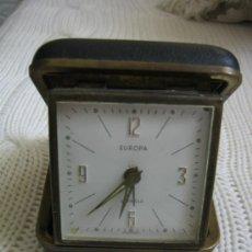 Despertadores antiguos: RELOJ DESPERTADOR EUROPA. FUNCIONA Y SE PARA. Lote 33776317