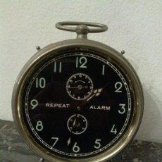 Despertadores antiguos: BONITO RELOJ DE ANTES DE LA GUERRA REPEAT ALARM - UWESTRA. Lote 34182348