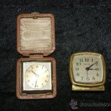 Despertadores antiguos: PAREJA DE RELOJES DESPERTADOR, ANTIGUOS, VER LAS FOTOS, DESCONOZCO DEL TEMA. . Lote 34473261