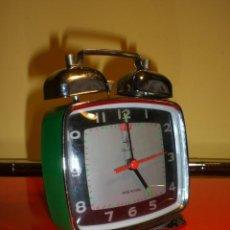 Despertadores antiguos: RELOJ DESPERTADOR TIME STAR. MUY BIEN CONSERVADO. ORIGINAL VINTAGE. FUNCIONANDO.. Lote 35135413