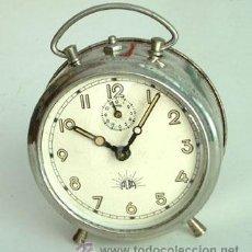 Despertadores antiguos: ANTIGUO RELOJ DESPERTADOR, MARCA ALBA. FUNCIONANDO. Lote 35225704