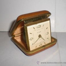 Despertadores antiguos: ANTIGUO RELOJ - DESPERTADOR. DE VIAJE. MARCA EUROPA.. Lote 36104373