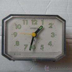 Despertadores antiguos: RELOJ DESPERTADOR MARCA CITIZEN. Lote 36749391