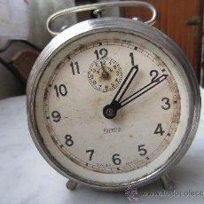 Despertadores antiguos: RELOJ DESPERTADOR NIQUELADO . Lote 37050239