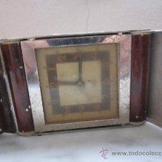 Despertadores antiguos: RELOJ DESPERTADOR ART DECO. Lote 37090443