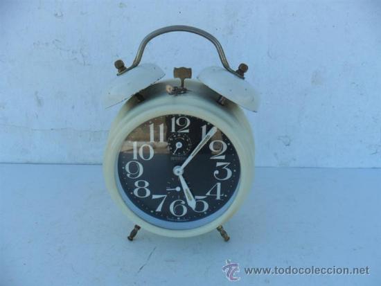 RELOJ DESPERTADOR DE CUERDA BAQUELITA GERMANY (Relojes - Relojes Despertadores)