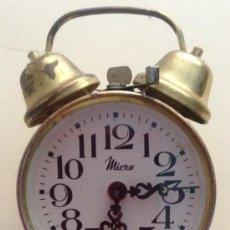 Despertadores antiguos: DESPERTADOR MICRO. FUNCIONA - CUERDA. Lote 37261025