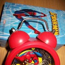 Despertadores antiguos: SPIDER MAN - RELOJ DESPERTADOR - MARVEL - NUEVO SPIDERMAN. Lote 38134865