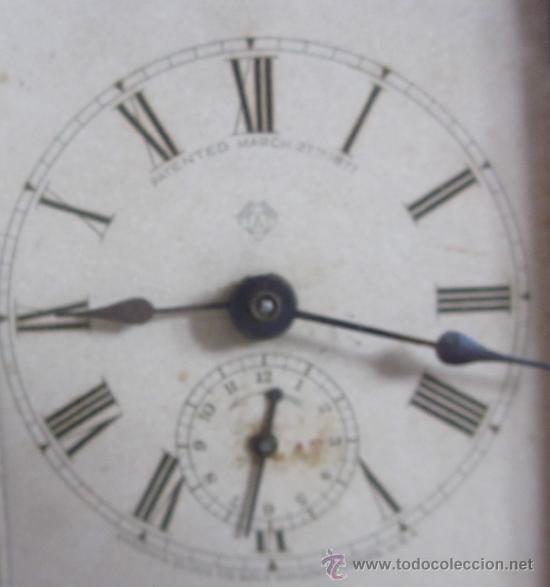 Despertadores antiguos: ANTIGUO RELOJ DESPERTADOR ANSONIA - AÑO 1880 - Foto 2 - 38404189