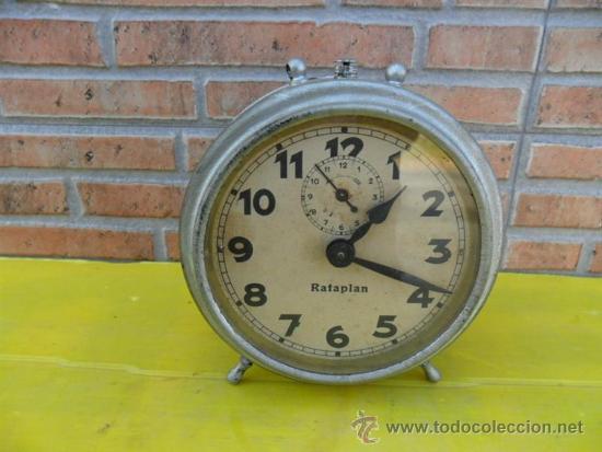 RELOJ DESPERATDOR ANTIGUO RATAPLAN (Relojes - Relojes Despertadores)