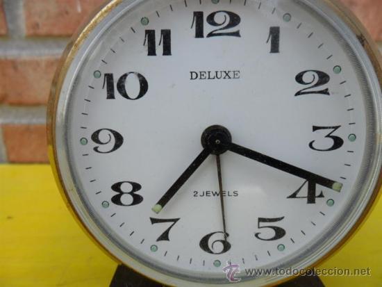 Despertadores antiguos: reloj metal despertador deluxe - Foto 2 - 38731429
