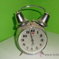 Despertadores antiguos: RELOJ DESPERTADOR DE MESA CROMADO EN FUNCIONAMIENTO RETRO-VINTAGE . Lote 39235120