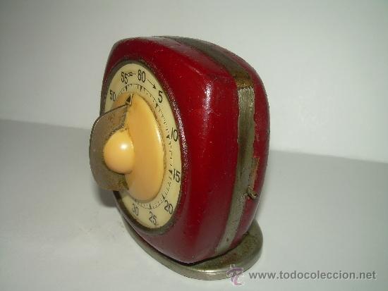 Despertadores antiguos: ANTIGUO RELOJ DE COCINA TEMPORIZADOR PARA CONTAR LOS MINUTOS....AÑOS 40 - Foto 2 - 39277917