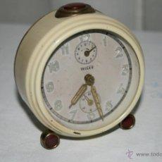 Despertadores antiguos: RELOJ DESPERTADOR MARCA WILCO CON ALARMA Y SEGUNDERO. AÑOS 40. FUNCIONA.. Lote 39469171