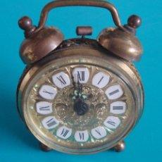 Despertadores antiguos: RELOJ DESPERTADOR DE CARGA MANUAL MARCA BLESSING, RELOJ ALEMAN MARCA BLESSING. Lote 40166334