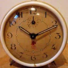 Despertadores antiguos: RELOJ DESPERTADOR VINTAGE FRANCES SMI, EN FUNCIONAMIENTO.. Lote 40204357