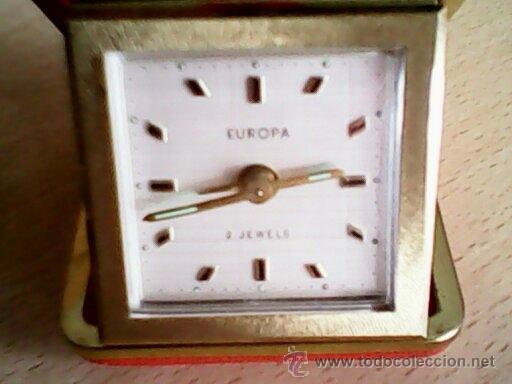 ANTIGUO RELOJ DESPERTADOR,DE VIAJES, RANDON EUROPA..2 JEWELS MMESATA FUNCIONADO MUY BIEN.PERFECTO. (Relojes - Relojes Despertadores)
