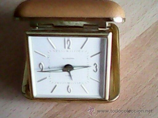 ANTIGUO RELOJ DESPERTADOR,PRATICO Y ESPECIALMENETE,PARA LLEVAR DE VIAJE.MARCHA PERFECTO.M.EUROPA (Relojes - Relojes Despertadores)