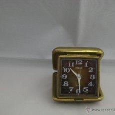 Despertadores antiguos: RELOJ DESPERTADOR DE VIAJE, DE CARGA MANUAL. Lote 40745764