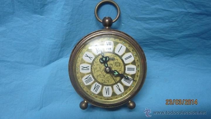 ANTIGUO DESPERTADOR DE METAL (Relojes - Relojes Despertadores)