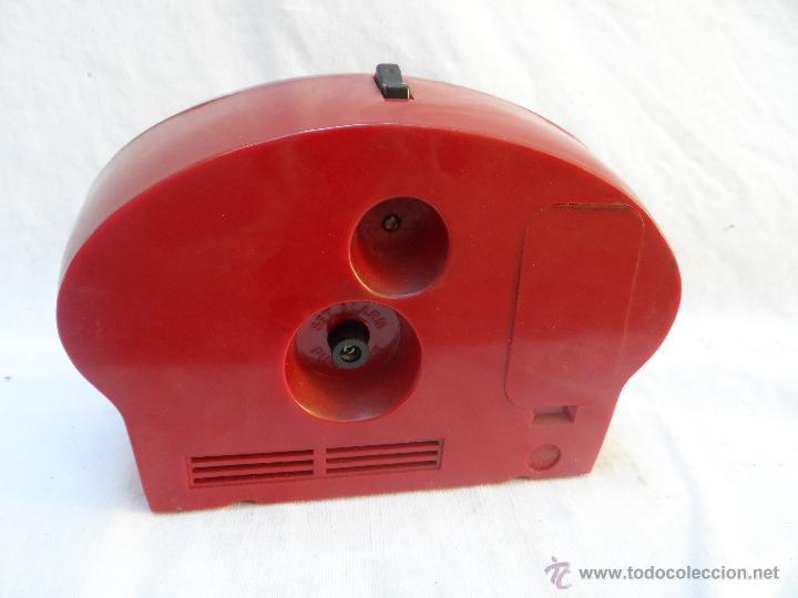 Despertadores antiguos: reloj despertador vintage 7 jewels pair tone tokio tokei color rojo funciona años 60/70 - Foto 2 - 42688037
