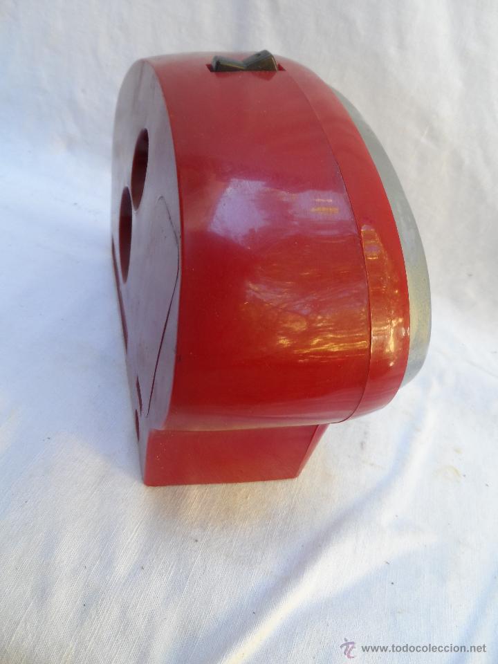 Despertadores antiguos: reloj despertador vintage 7 jewels pair tone tokio tokei color rojo funciona años 60/70 - Foto 5 - 42688037