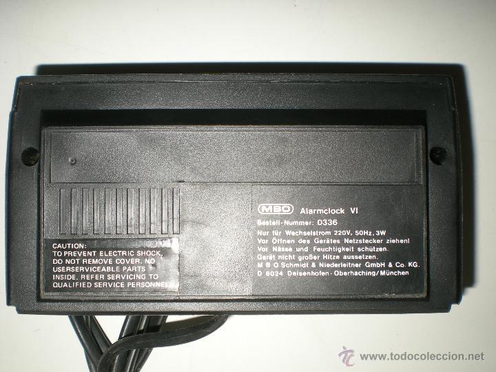 Despertadores antiguos: antiguo despertador aleman electrico digital funciona correcto buen estado años 60 - Foto 4 - 42782389