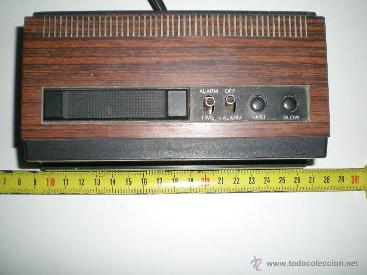 Despertadores antiguos: antiguo despertador aleman electrico digital funciona correcto buen estado años 60 - Foto 6 - 42782389