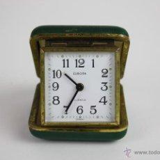 Despertadores antiguos: RELOJ DESPERTADOR MARCA EUROPA CON ESTUCHE. AÑOS 50.. Lote 42845111