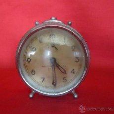 Despertadores antiguos: RELOJ DESPERTADOR RELOJERÍA SUIZA ZAFIRO. SEVILLA. . Lote 43297561