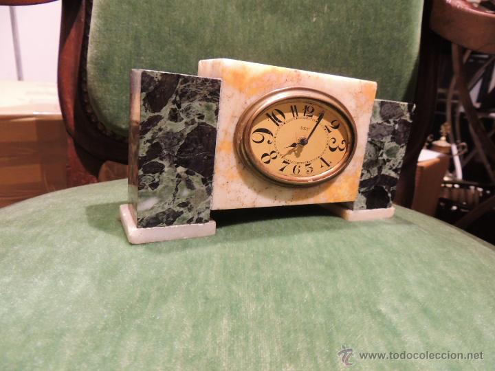 Despertadores antiguos: RELOJ DESPERTADOR ART DECO DE MARMOL - Foto 2 - 43308230