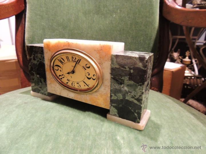 Despertadores antiguos: RELOJ DESPERTADOR ART DECO DE MARMOL - Foto 3 - 43308230