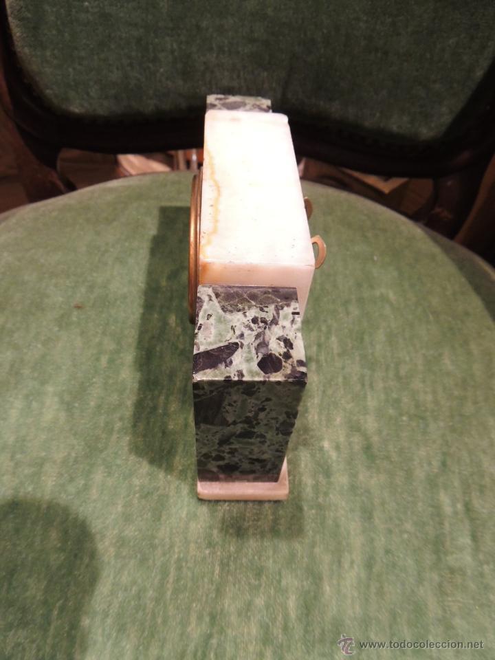 Despertadores antiguos: RELOJ DESPERTADOR ART DECO DE MARMOL - Foto 4 - 43308230