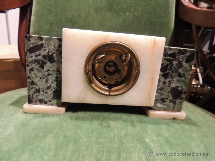 Despertadores antiguos: RELOJ DESPERTADOR ART DECO DE MARMOL - Foto 5 - 43308230