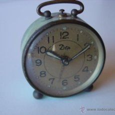 Despertadores antiguos: ANTIGUO RELOJ DESPERTADOR MARCA DEP . Lote 43467425