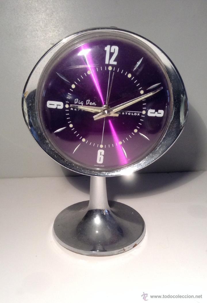 RELOJ DESPERTADOR VINTAGE AÑOS 60 BIG BEN WESTCLOX DECORACION RETRO SPACE AGE (Relojes - Relojes Despertadores)